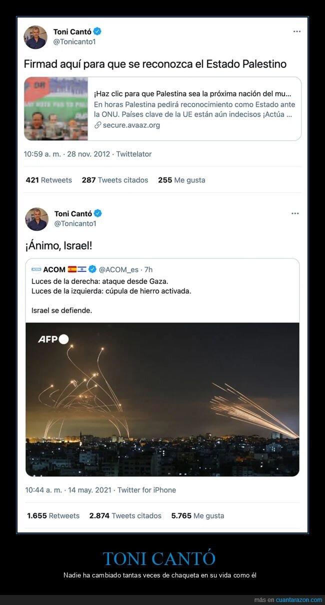 israel,palestina,políticos,toni cantó