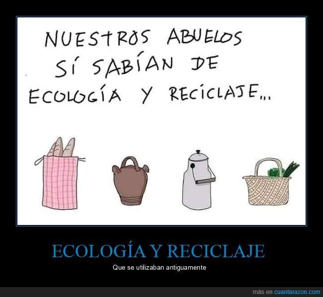 abuelos,ecología,reciclaje