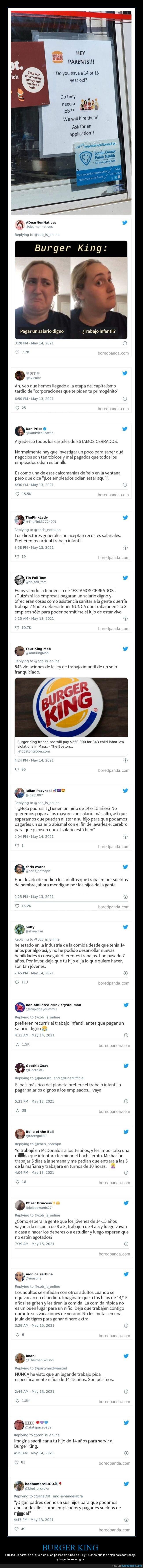 burger king,edad,trabajo