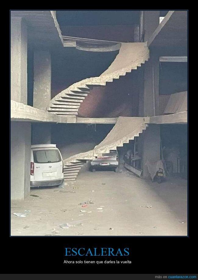 al revés,escaleras,fails