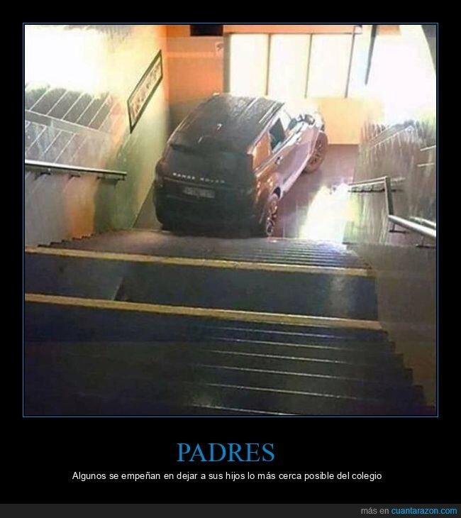 coche,escaleras,wtf