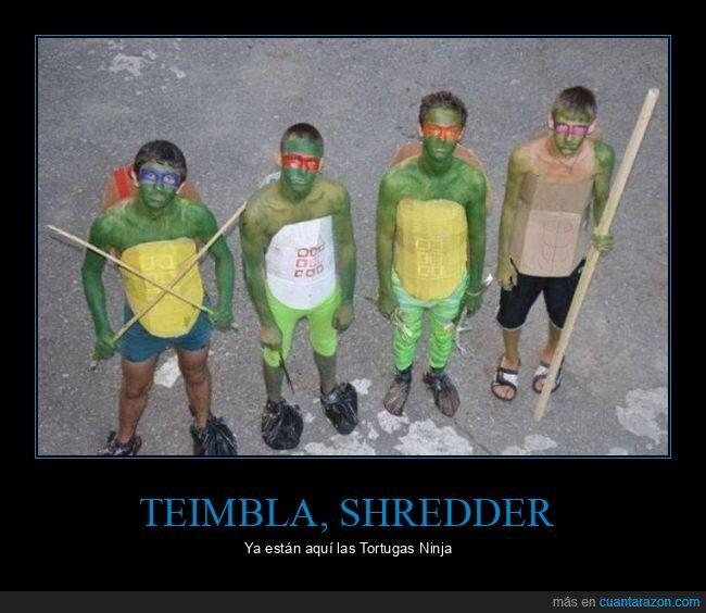 cutres,disfraces,tortugas ninja