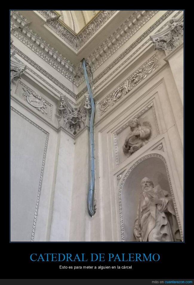 cables,catedral de palermo,fails