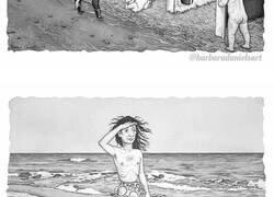 Enlace a Esta artista hace ilustraciones en las que el rol de los humanos y los animales está invertido