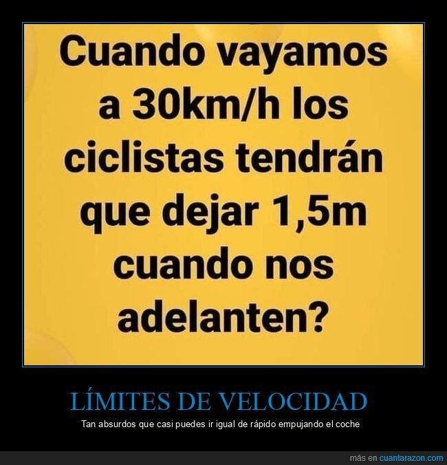 ciclistas,límite,velocidad