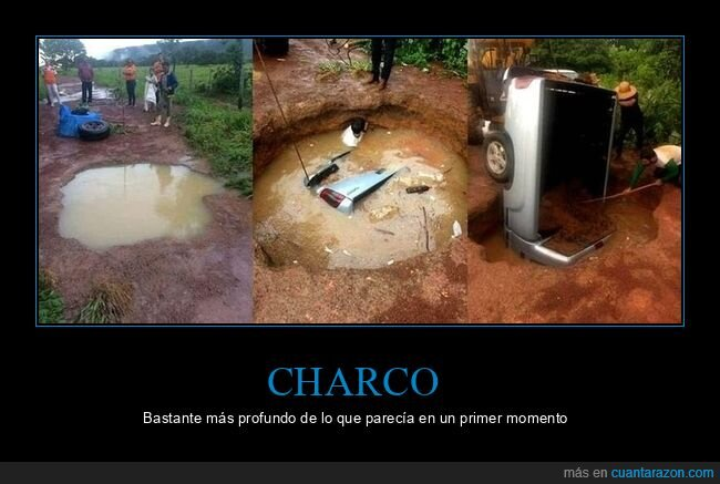 charco,coche,wtf