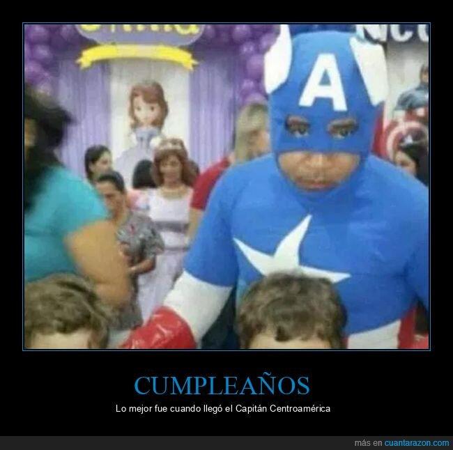 capitán américa,capitán centroamérica,cumpleaños