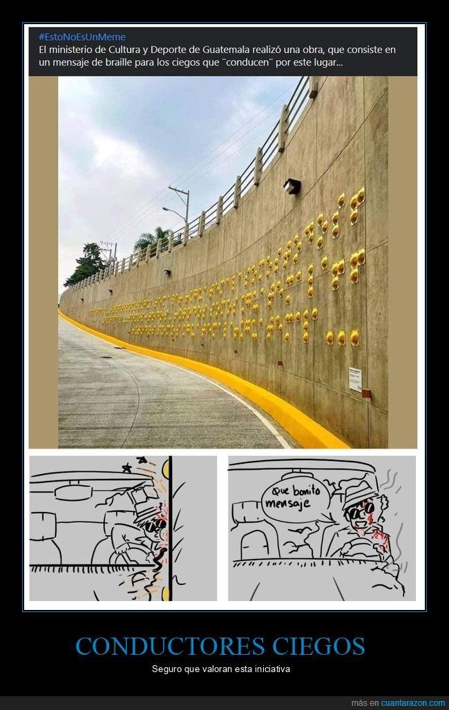 braille,ciegos,coches,guatemala,wtf