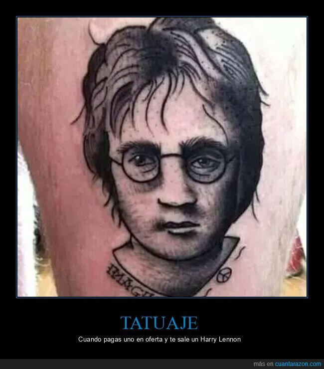 expectativas,fails,harry potter,john lenon,realidad,tattoo