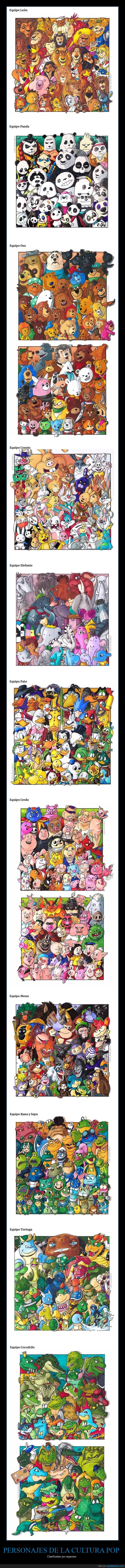 equipos,especies,personajes