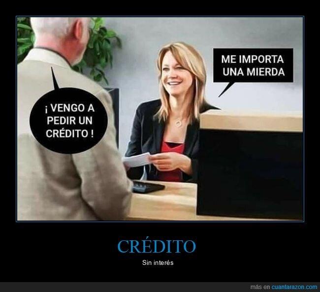 banco,crédito,sin interés