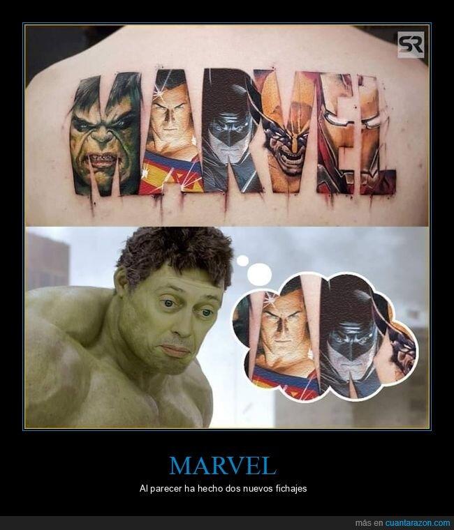 batman,fails,marvel,superman,tatuaje