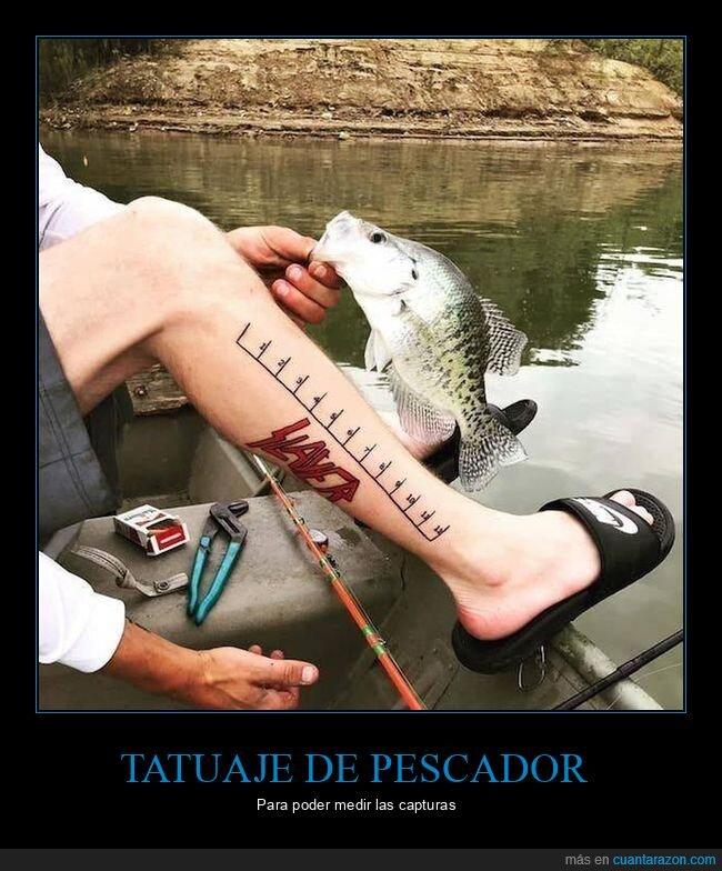 medir,pescador,tatuaje