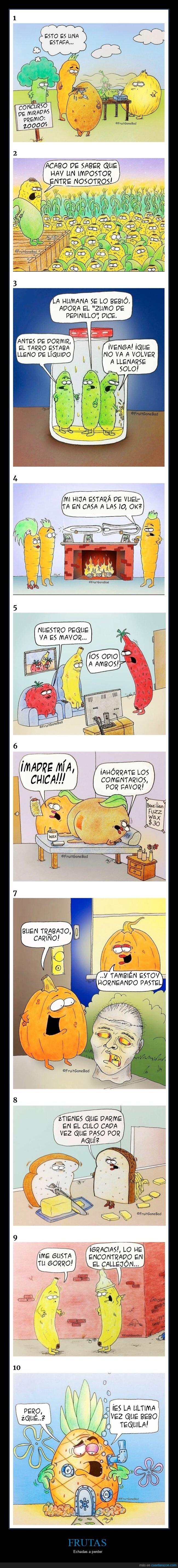 cómics,frutas