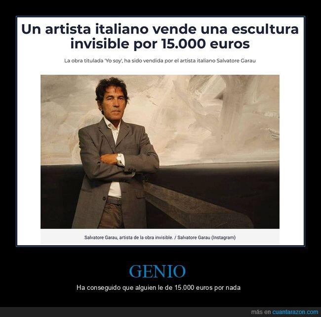 artista,escultura,invisible,vender