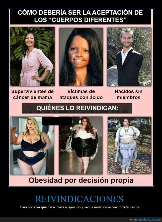 aceptación,cuerpos diferentes,gordas