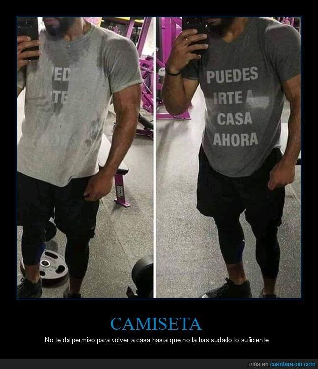 camiseta,mensaje,sudar