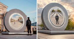 Enlace a Lituania y Polonia han construido un «portal» que conecta dos de sus ciudades y a la gente le encanta