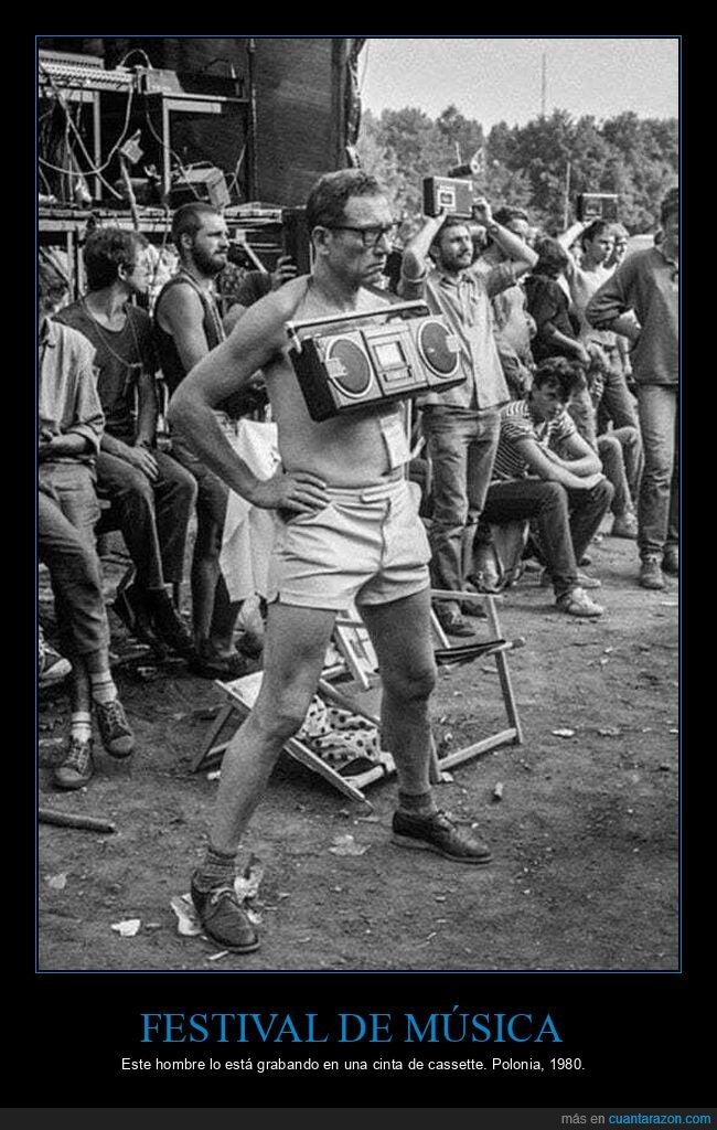 cassette,festival de música,grabando