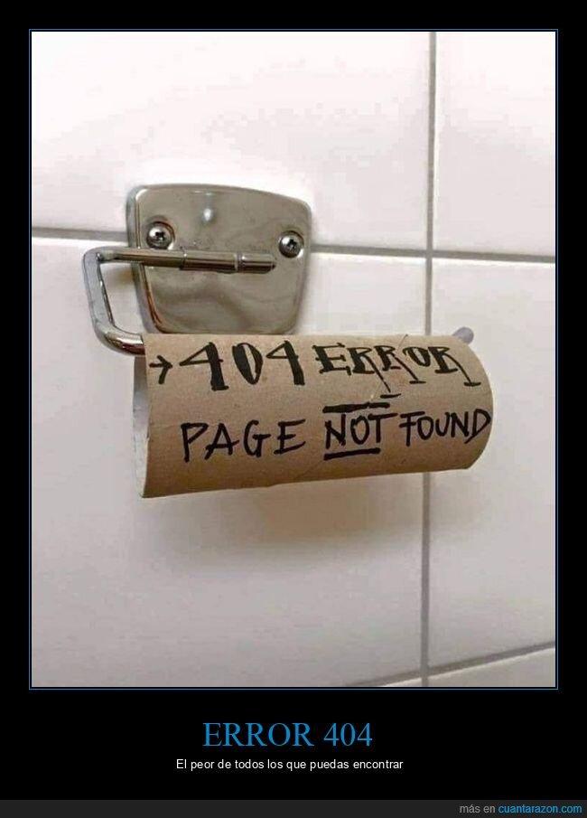 error 404,papel higiénico
