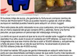 Enlace a Venden un 'nugget' de pollo con la forma de un personaje de 'Among Us' por 41.000 euros