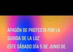 Enlace a Protesta contra la nueva tarifa de la luz
