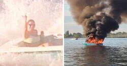Enlace a Estos homófobos pidieron socorro a los tripulantes del bote del Orgullo al que estaban acosando tras explotar su propia embarcación