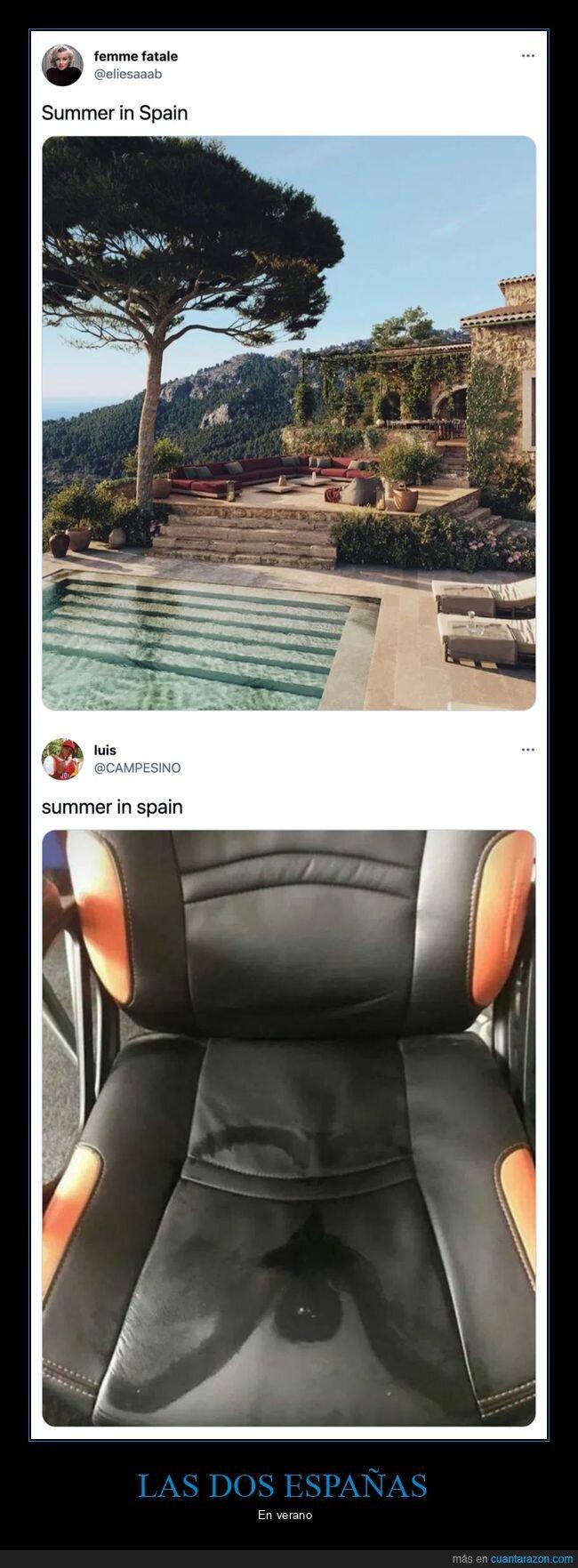 españa,silla,sudor,verano