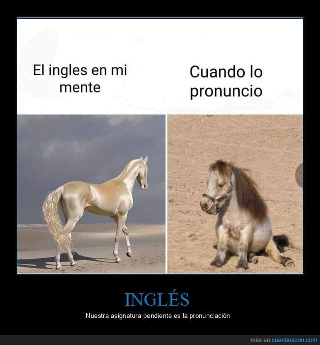 caballo,inglés,pronunciar