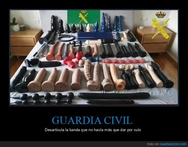 banda,guardia civil,incautación,policía