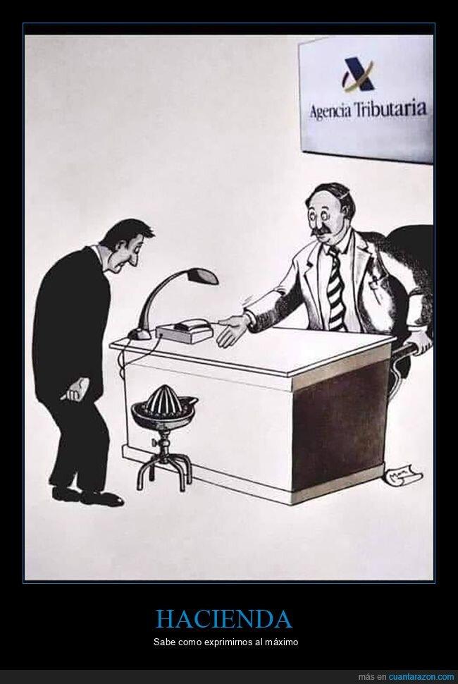 agencia tributaria,exprimidor,hacienda,silla