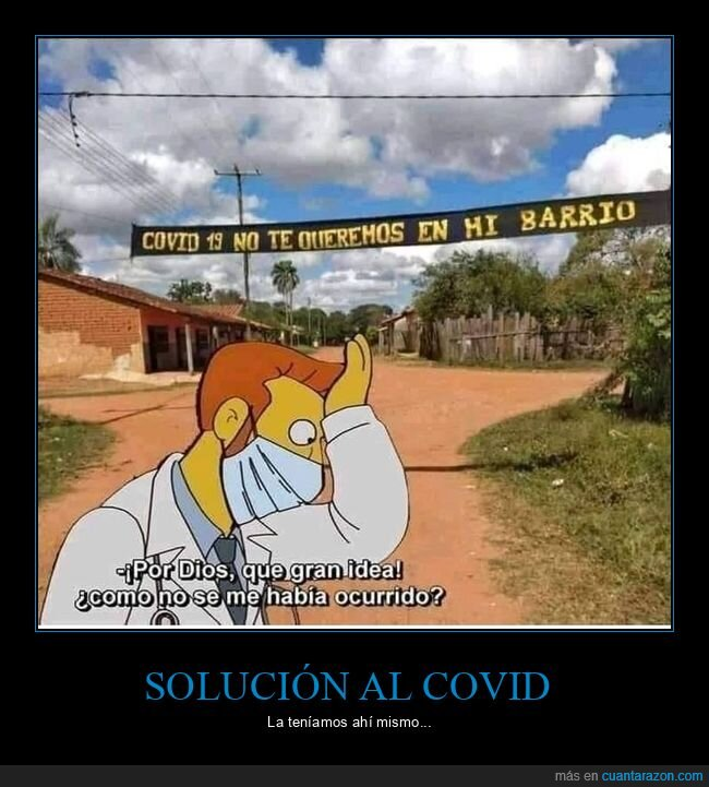 barrio,coronavirus,pancarta