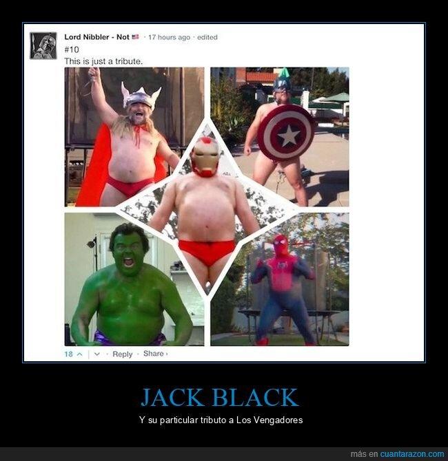 jack black,los vengadores,tributo