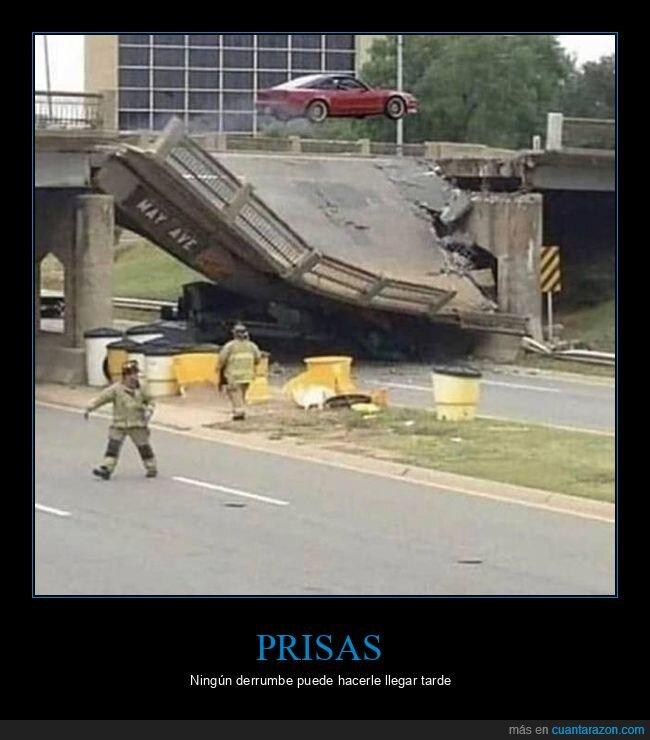coches,derrumbado,puente,salto