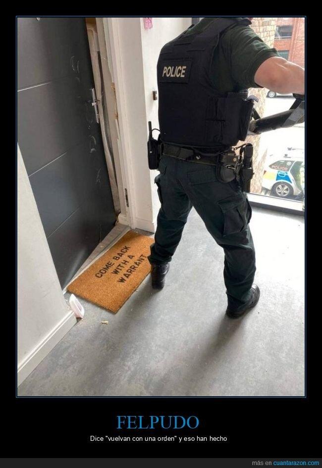felpudo,orden,policía