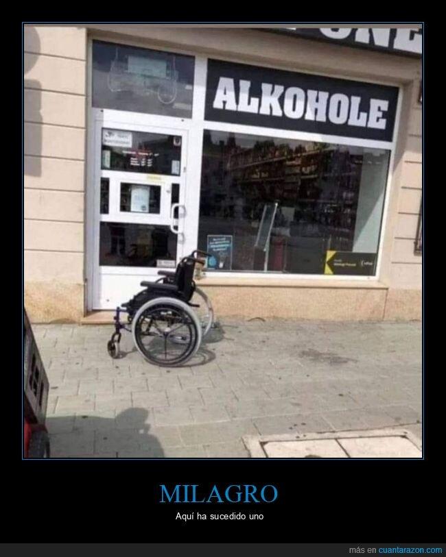 milagro,silla de ruedas
