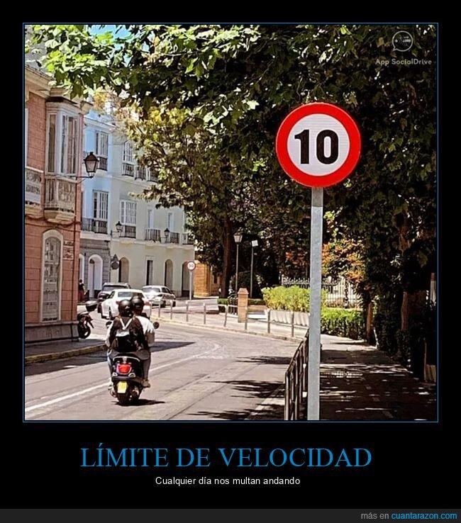 límite de velocidad,señal