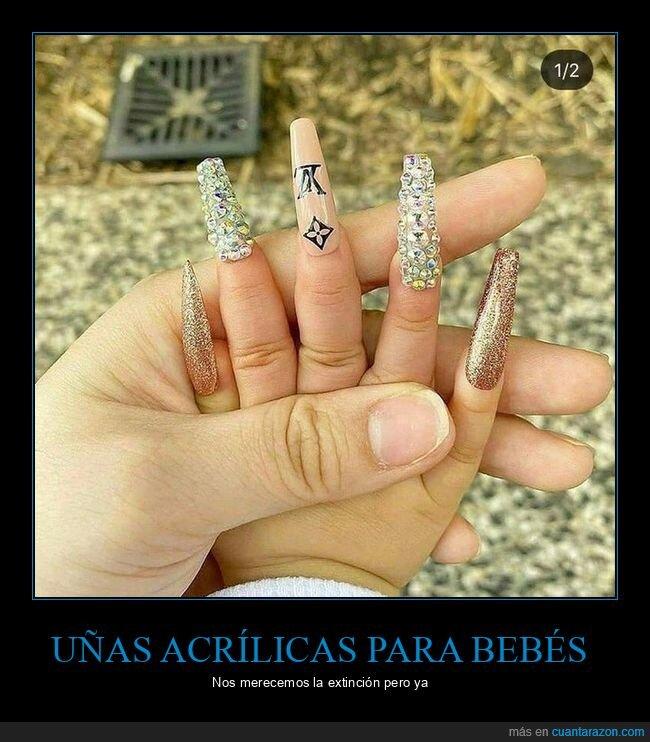 bebés,uñas acrílicas