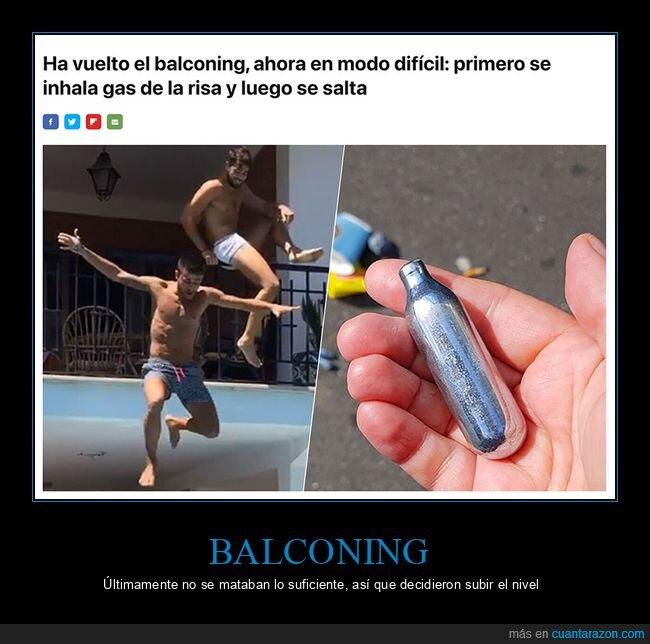 balconing,gas de la risa