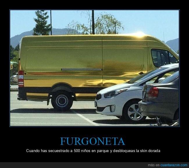dorada,furgoneta,skin