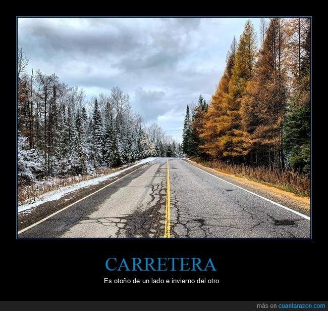 carretera,invierno,otoño
