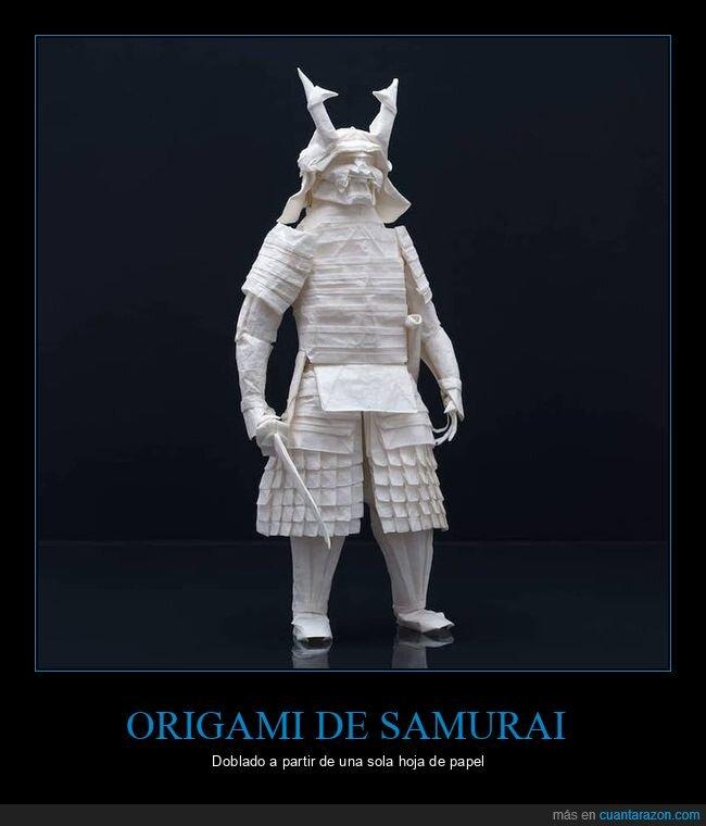 origami,papel,samurai