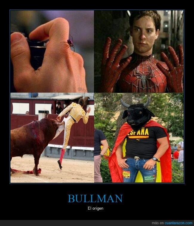 personajes,spiderman,torero,toro,toros