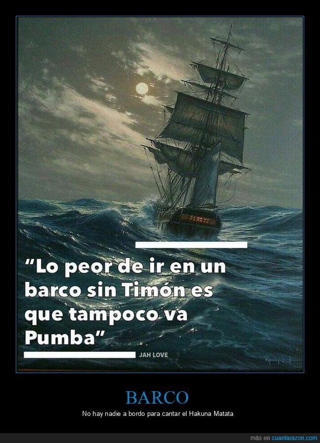 barco,pumba,timón