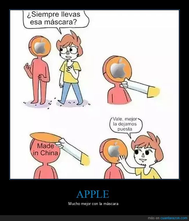 apple,made in china,máscara