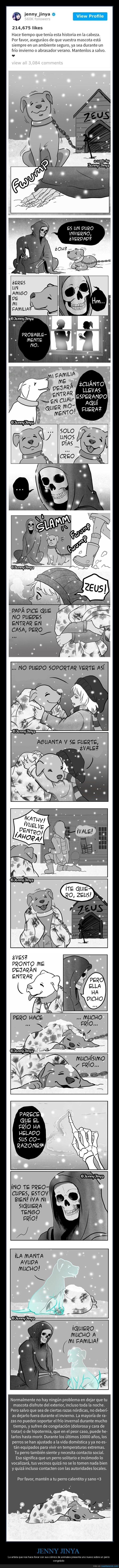 congelado,jenny jinya,perro