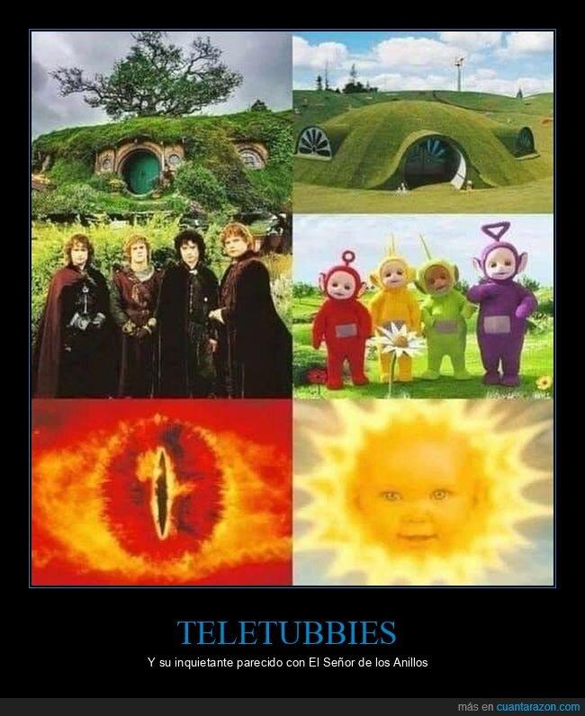 el señor de los anillos,teletubbies