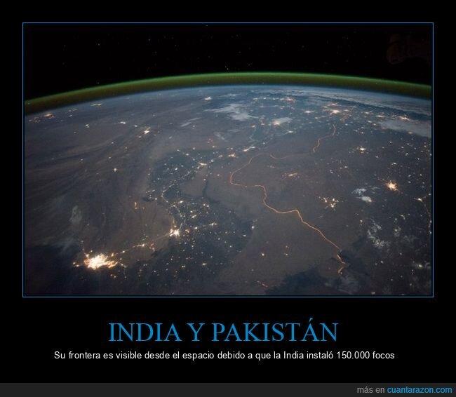 espacio,focos,frontera,india,pakistán