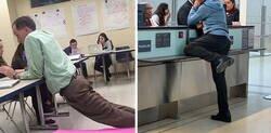 Enlace a Fotos de personas en posturas muy raras en público