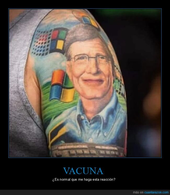 bill gates,reacción,tatuaje,vacuna